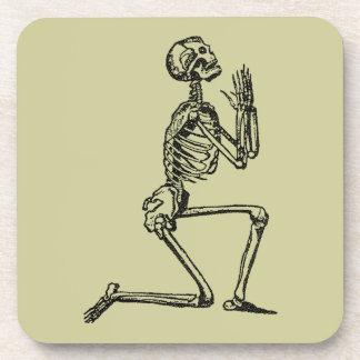 Customizable Vintage Praying Skeleton Coaster