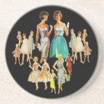Customizable Vintage Retro Fashion Coasters