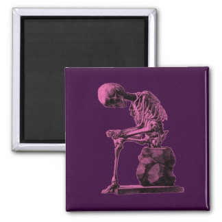 Customizable Vintage Skeleton Thinker Magnet