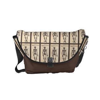 Customizable Vintage Skeletons Small Messenger Bag