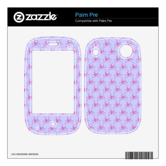 Customizable Vintage Skull & Crossbones Decal For Palm Pre
