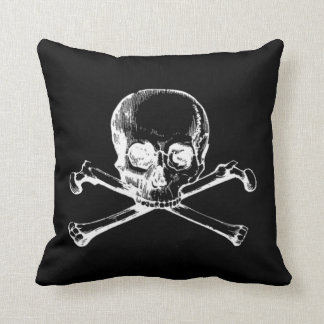 Customizable Vintage Skull Throw Pillow