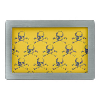 Customizable Vintage Skulls & Crossbones Rectangular Belt Buckle