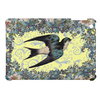 Customizable Vintage Sparrow Swirl Case For The iPad Mini