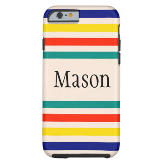 Customizable Vintage Striped iPhone 6 Case