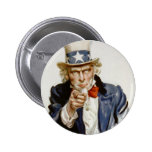 Customizable Vintage Uncle  Sam 2 Inch Round Button