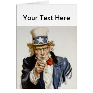 Customizable Vintage Uncle  Sam Greeting Cards