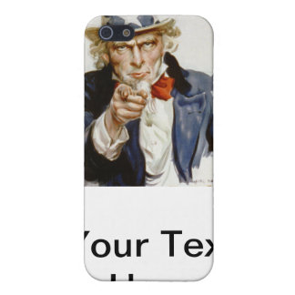 Customizable Vintage Uncle  Sam iPhone SE/5/5s Cover