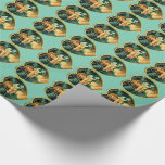 Customizable Vintage Valentine Hearts & Chereubs Wrapping Paper