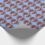 Customizable Vintage Valentine Woman Hearts Gift Wrap Paper