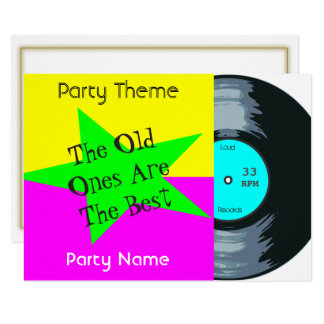 Customizable Vinyl Record Party Invitation
