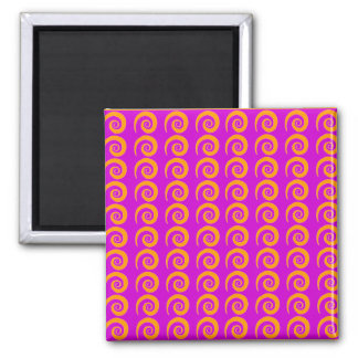 Customizable Violet Curls Pattern 2 Inch Square Magnet