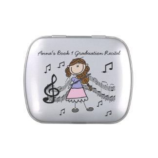 Customizable Violin Player Candy Tins