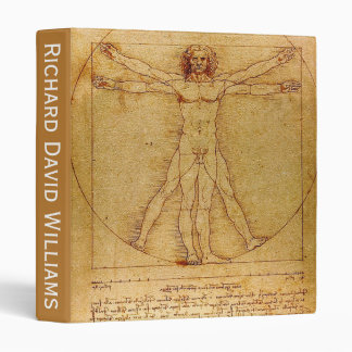 Customizable Vitruvian Man By Leonardo Da Vinci Binder