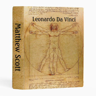 Customizable Vitruvian Man By Leonardo Da Vinci Mini Binder