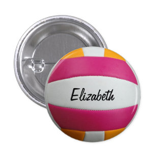Customizable Volleyball Button