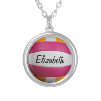 Customizable Volleyball Necklace