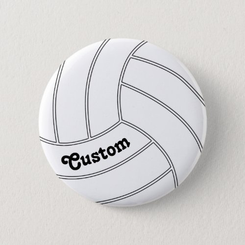 CUSTOMIZABLE Volleyball Round Button Pin