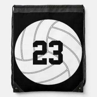 Customizable Volleyball Team Drawstring Backpacks