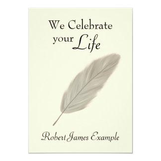 Customizable Wake / Memorial / Funeral (Sepia) Card