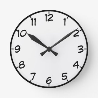 Customizable Wall Clock with Numbers