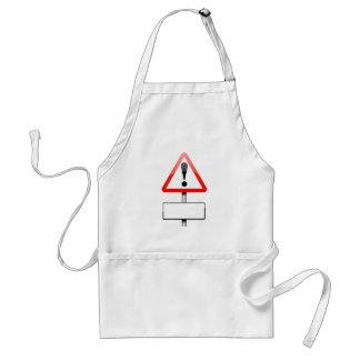 Customizable warning sign. adult apron