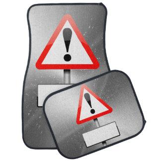Customizable warning sign. car mat