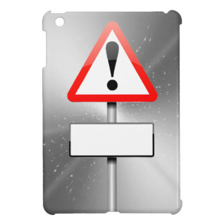 Customizable warning sign. cover for the iPad mini