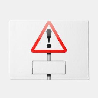 Customizable warning sign. doormat