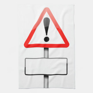 Customizable warning sign. towels