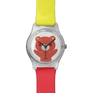 Customizable Watch with Bear for Kids