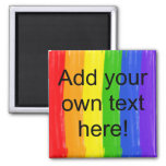 Customizable Watercolor Rainbow 2 Inch Square Magnet