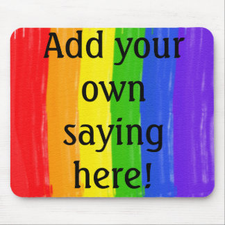 Customizable Watercolor Rainbow Mouse Pad