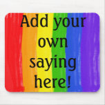 Customizable Watercolor Rainbow Mouse Pads