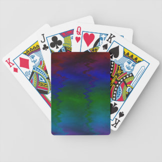 Customizable Wavy Rainbow Modern Colorful Pattern Bicycle Playing Cards