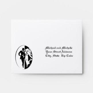 Customizable Wedding 5 ¾ x 4 3/8 RSVP Envelope