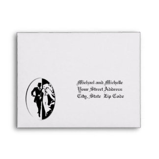 Customizable Wedding 5 ¾ x 4 3/8 RSVP Envelope