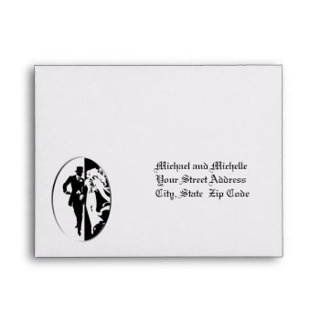 Customizable Wedding 5 ¾ X 4 3/8 Rsvp Envelope by 4westies at Zazzle