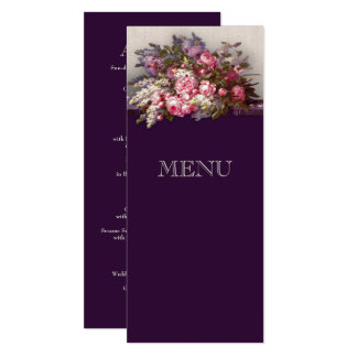 Customizable Wedding Anniversary Menu Cards