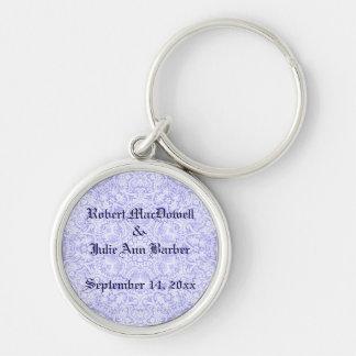 Customizable Wedding Baroque Blue Lace Keychain