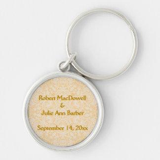 Customizable Wedding Baroque Gold Lace Keychain