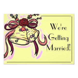 Customizable wedding bell simple wedding cards
