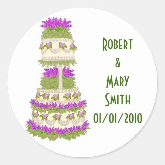 Customizable Wedding Cake Sticker
