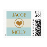 Customizable Wedding Heart Gold Stamp