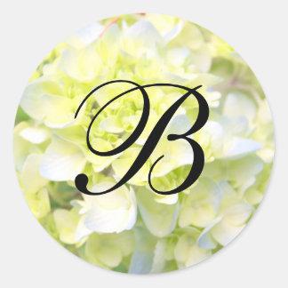 Customizable Wedding Monogram Round Sticker