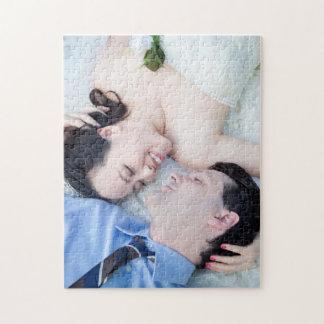 Customizable Wedding Portrait Photo Jigsaw Puzzle