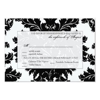 Customizable Wedding RSVP Card Damask Personalized Announcements
