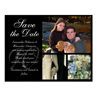 Customizable Wedding Save the Date Card 3 Pictures