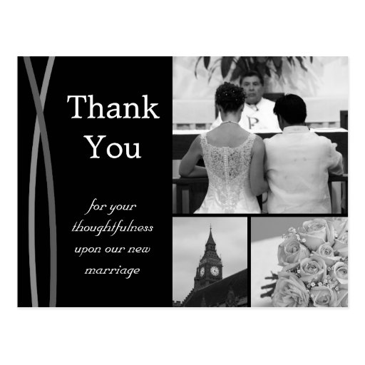 Wedding Thank You Postcards: Customizable Wedding Thank You Card Photo Pictures