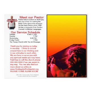 Customizable Weekly Church Bulletin (Inside Blank) Letterhead